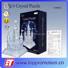 educational crystal led 3d puzzle