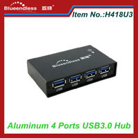 Full Aluminum Case USB 3.0 Hub 4 Ports For Card Reader / USB Keyboard Mouse