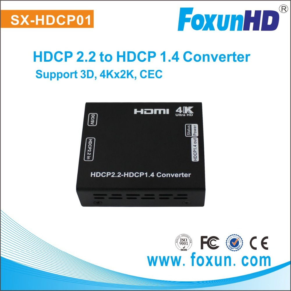 Leading brand FOXUN , Newest HDCP hdmi Convert, downgrade hdcp from 2.2 to 1.4