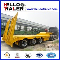60ton 3 axle low bed trailer/ low bed truck semi trailer/ lowbed truck semitrailer