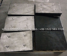 wear and tear resistant steel backed rubber liner plate for chute skirtboard