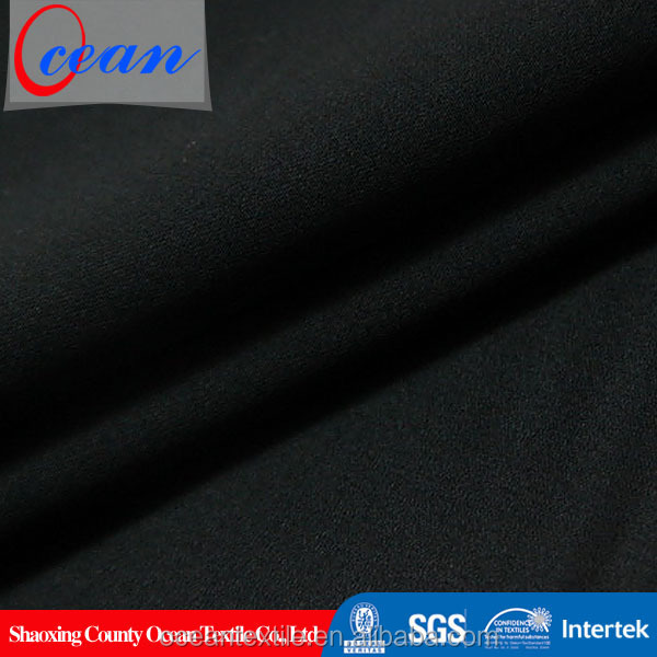 Woven black 100% cotton material stretch wholesale shirting fabric
