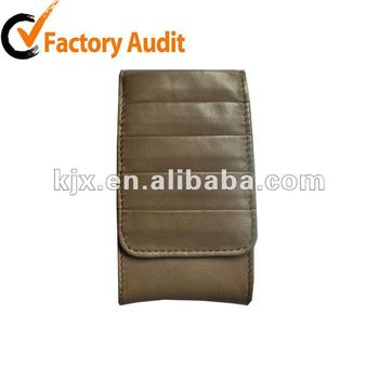 design waterproof leather cellphone accessory
