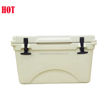 Plastic cooler box with bluetooth speaker and chair table to transport fish