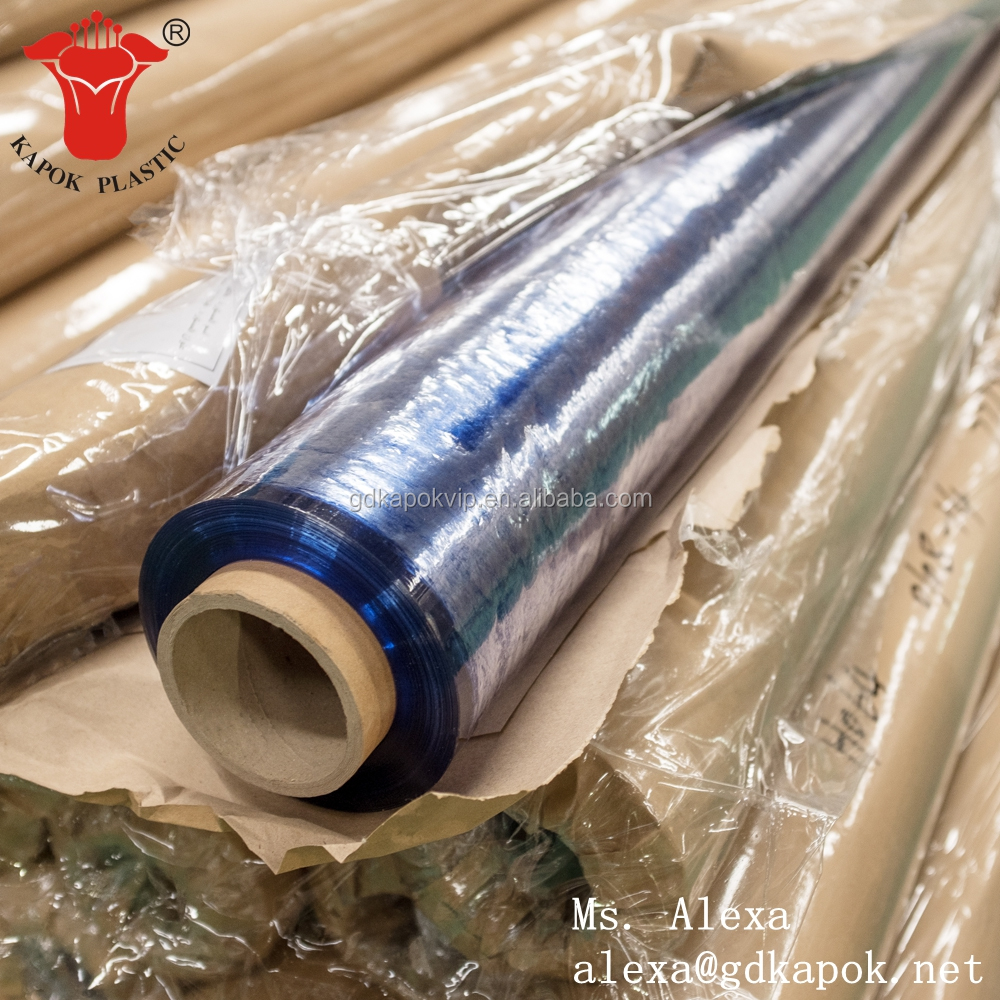 2016 Chinese Kapok Soft Blue Clear Pvc Film Factory Clear PVC Film for Mattress Packing