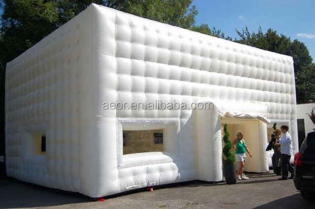 2016 Aeor Hot sale inflatable buildings /inflatable cube tent for outdoor