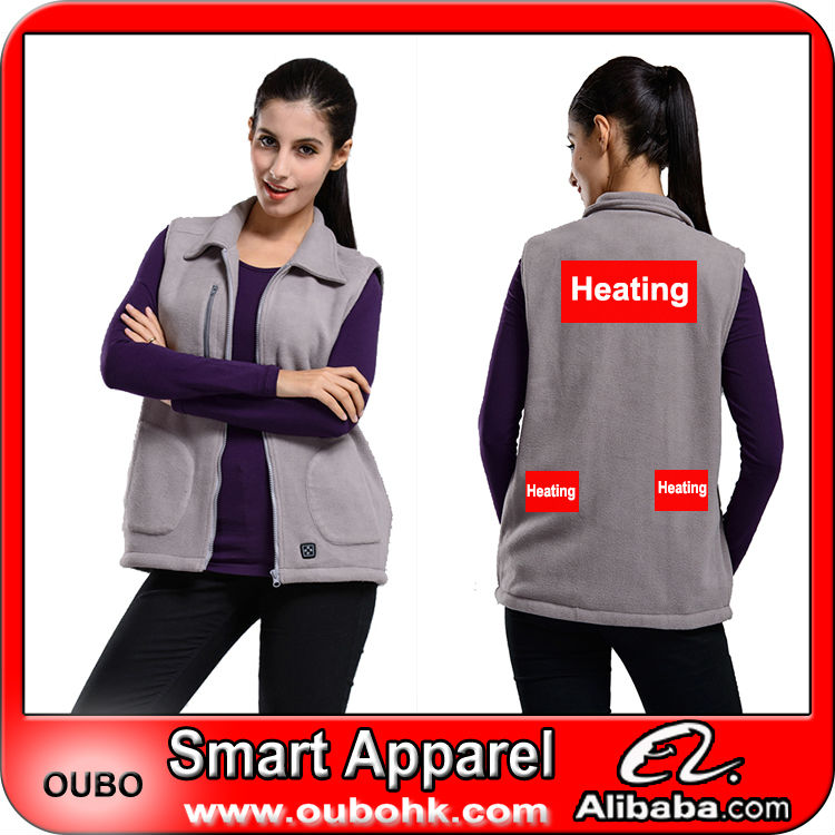 Women designer vest fashion Latest Style coat with carbon fiber heated pads battery heated vest warm outdoor OUBOHK