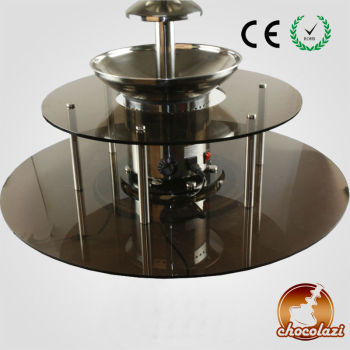 CHOCOLAZI ANT-8130L Auger 2 tiers New Rotatable surround Led Desk for chocolate fountain