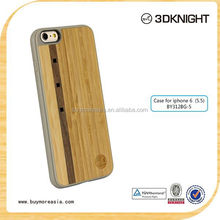 2016 Hot Selling Customized Bamboo Wood TPU Cover Mobile Phone Case for iPhone 6 Wholesale OEM ODM Unique Handmade Cover