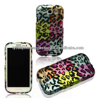 Colorful Leopard Rubberized Design HARD PROTECTOR HARD SKIN COVER CASE SNAP ON for Samsung Galaxy S III, Galaxy S3 i9300