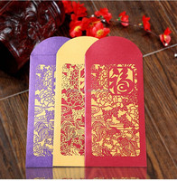 laser cut Customized Chinese New Year Red Pocket