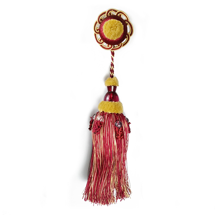Trade assurance home textile decorative mini key tassel for jewelry