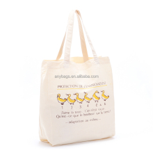 Custom organic cotton shopping tote bag logo print