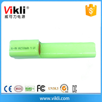 Rechargeable NiMH AA battery pack 2500mAh 9.6V