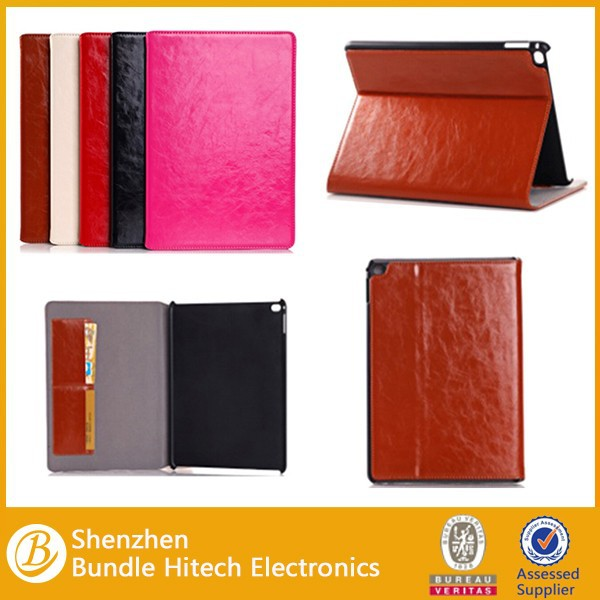 Protective For Apple Ipad Air 2 Case, genuine leather For Ipad 6 Case, For Ipad air2 genuine Leather Case