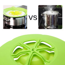 2017 New Cooking Tools Flower Petal Boil Spill Stopper Silicone Pot Lid Cover For Pan Cookware Parts Kitchen Accessories