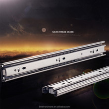 furniture drawer slide 3 fold ball bearing full extention drawer sliding rail and runner with high quality and best price