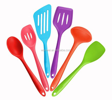 Colorful 6 Piece Cooking Bakeware silicone kitchen utensil set