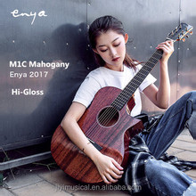 High Glossy 40' Acoustic Guitar cutaway ENYA EA-M1C solid mahogany guitar wholesale factory