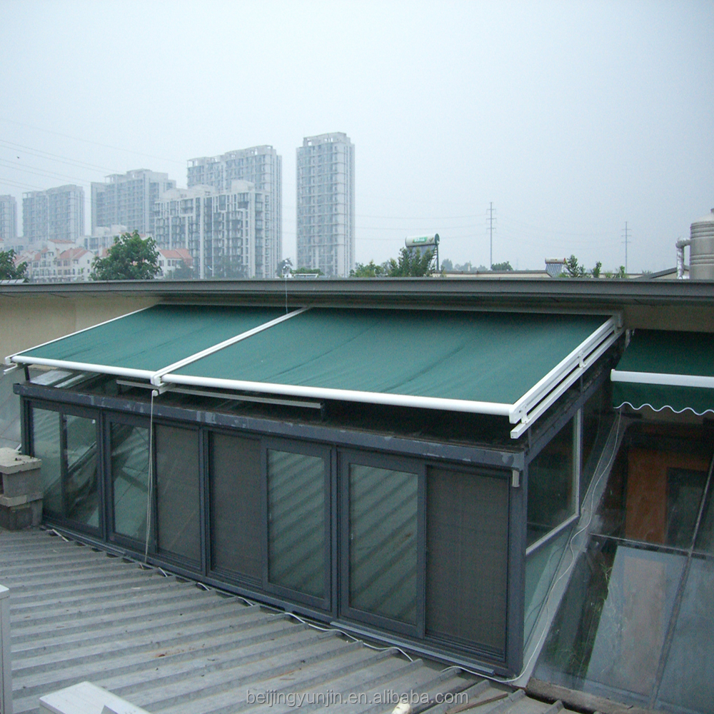 Modern design commercial retractable roof conservatory awning