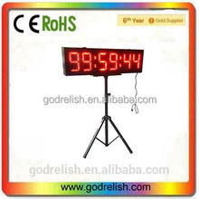 "Godrelish 8"" LED Race Timing Clock double sided Support Countdown/up Function and Real Time Clock Function IR Remote"