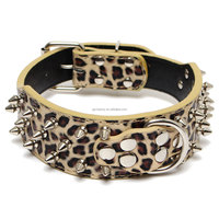 Hot Cute New Camouflage Leather Rivet Studded Dog Cat Collar X-Large Pet Pitbull Bully Terrier Collars