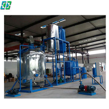 High Vacuum Black Used Waste lubrication/ Car Engine Lube Oil Refining Equipment/ Re-refining Plant for sale