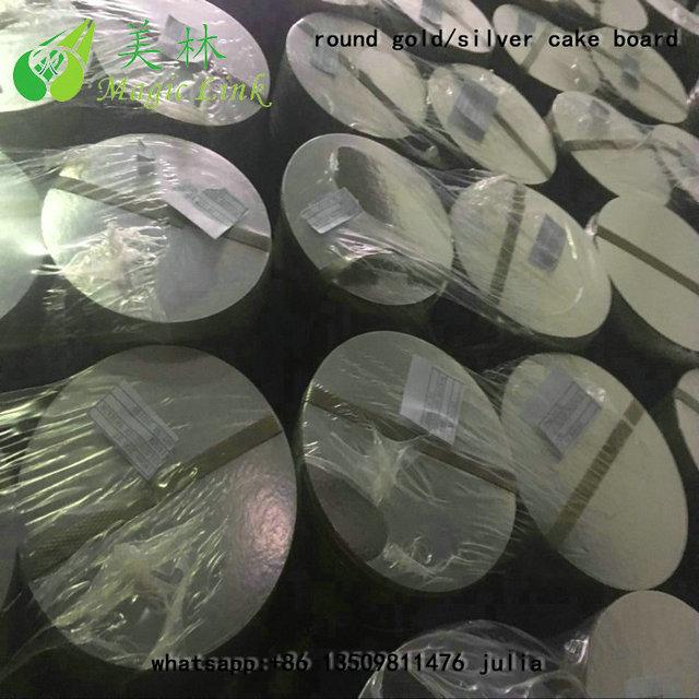 Wholesale Round Silver Gold Foil Cake Boards/weeding cake base/bridecake board