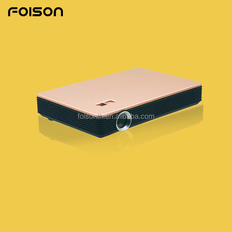 FOISON High Lumen Android OS LED DLP Smart Projector 3000 Lumen High Bright 5000 : 1 Contrast Ratio 1GB+8GB Low Price Projector