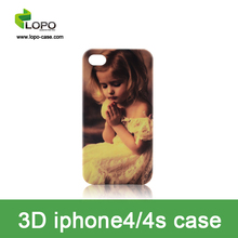 Heat Transfer sublimation 3D phone case for iphone 4/4S