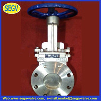 pneumatic operated gate valve 3 way knife gate valve