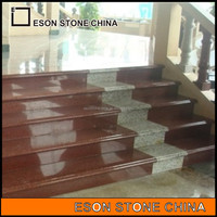 Eson Stone chinese red granite stone stairs for sale, cheap factory price