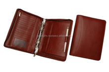 File folder with ring binder and card cases slots / pen holder ring binder for daily use