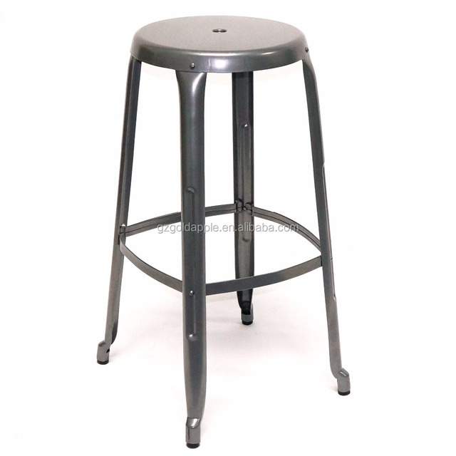 Industrial Metal Bar Stool Chairs, Cheap 65/75cm Seat High Stacking Stool
