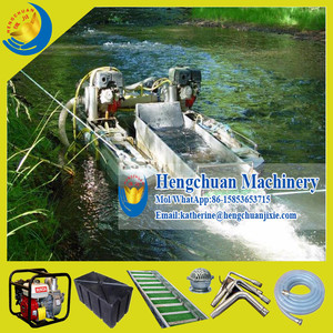 Hengchuan Good Quality Mini Gold Dredge Float with Double Gasoline Engine Water Pump