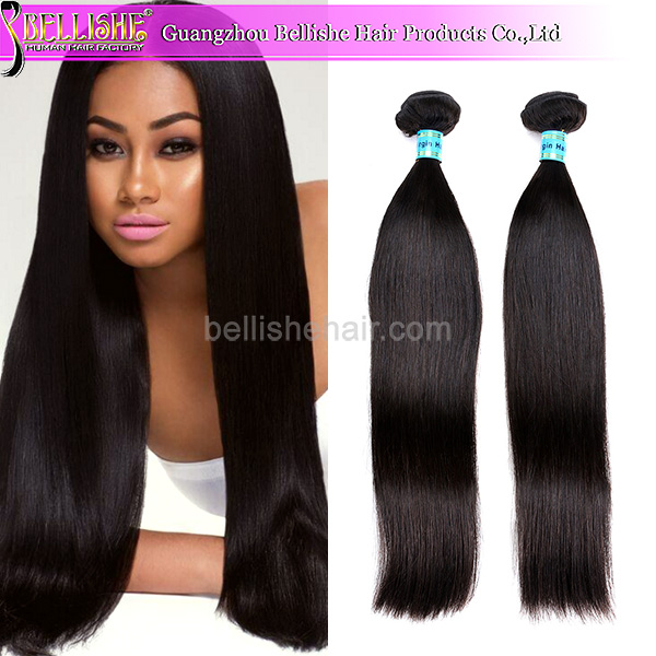 Bellishe Hair best quality 7a grade virgin hairstyles for long fine brazilian straight hair