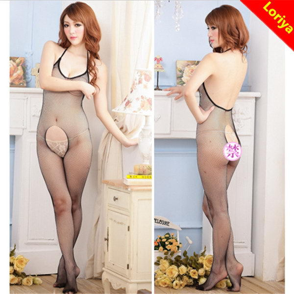 New arrival breathable sexy black transparent lingerie girls models
