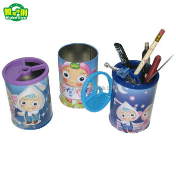 Wholesale Factory Tin Pen Holder With blossom Price