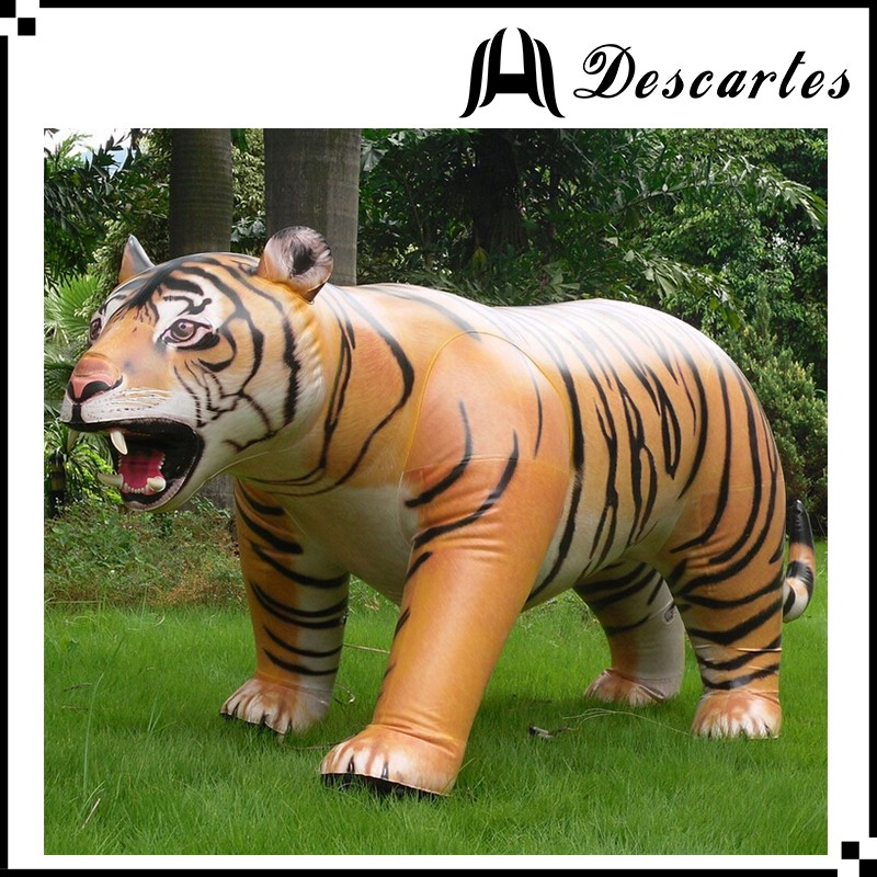 2016 OEM design giant inflatable fierce tiger for advertising decoration