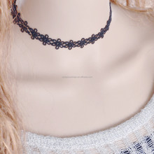 N3425 vintage Daisy punk simple joker black hollow out wholesale lace necklace chain jewelry accessories