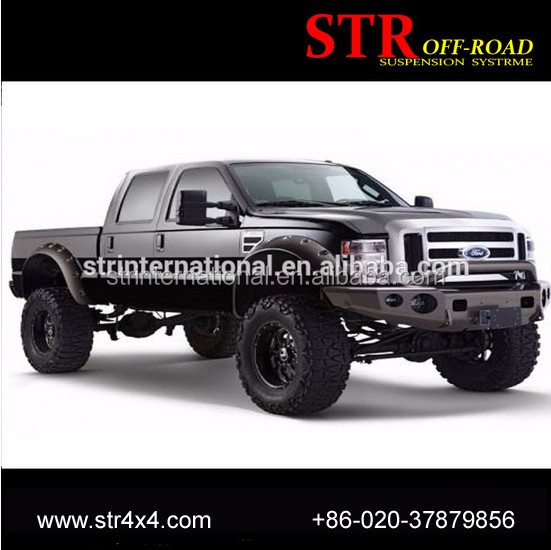 High quality ABS plastic pocket style f250 truck pickup fender flares