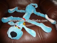 LE h1638 rare 20'' vintage foofur blue dog stuffed animal plush toy