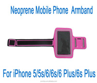 armband neoprene cell phone case holder for iPhone 6 6s 5 5s 6 plus Sedex Audit Factory