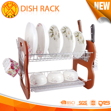 Household stainless steel kitchen cabinet end shelf display wire dish racks