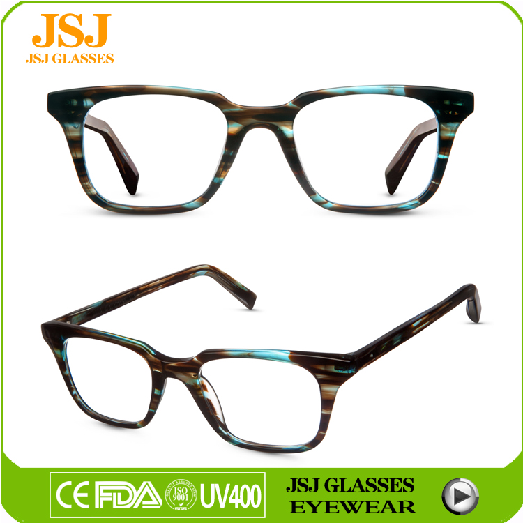 2016 wholesale square frame handmade optical frame for men's and women prescription eyewear glasses