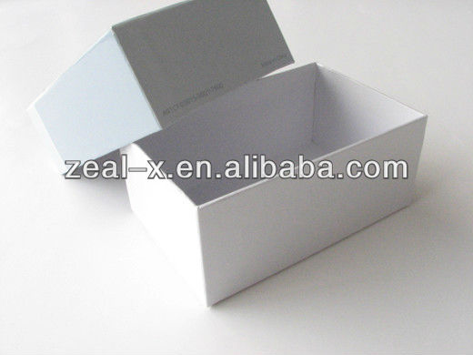 Simple and Easy White Paper Box For Visit Card Packaging
