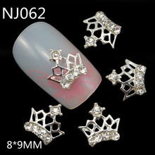 Discount silver crown 3d nail decoration for DIY nail NJ062