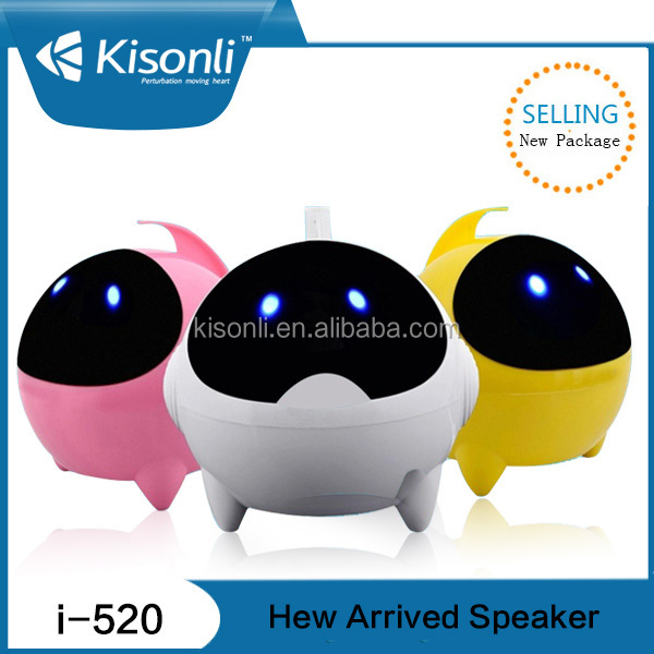 China supplier New design led light USB Speaker for computer/mobile /mp3/mp4 /home