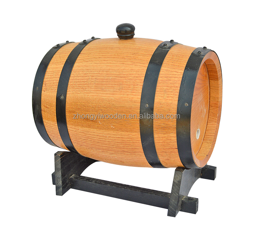 China factory FSC&SA8000 pine 3L 5L 10L wooden ice wine beer barrel for bar