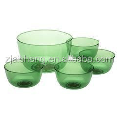 European Fashionable First Rate High Quality food grade clear plastic bowl Bpa free